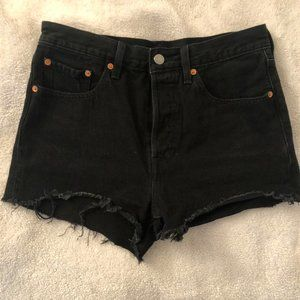 Levi's Ripped High Waisted Shorts